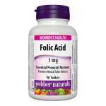 Webber Folic Acid 1mg (90 tablets)