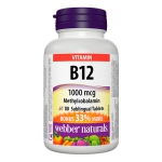 Webber Vitamin B12 Sublingual Tablets 1000mcg (60+20 tablets)